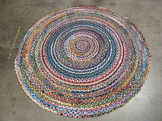 6  Round Colorful Area Rug