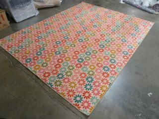 8  x 10  Flower Pink Area Rug