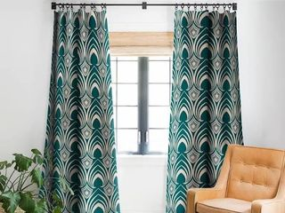 Scalloped Blackout Curtains  2 Panels