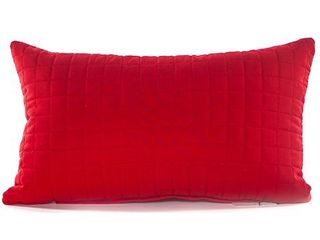 Polyester   Red   Accent  Grid long Red 12 x 20 Accent Pillow