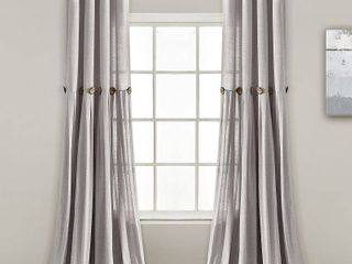 Pair of lush Decor linen Button Panel Window Curtains