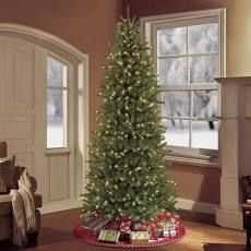 7 5 foot Pencil Slim Tree with Clear lights   7 5  Retail 174 99