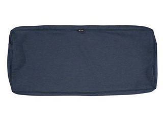 Water Resistant Heather Indigo Blue Patio Bench Cushion Slip Cover