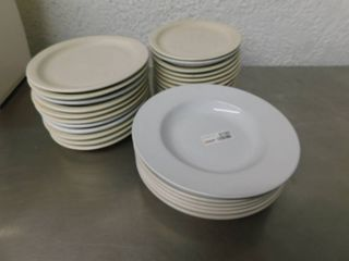 Set of Oval and Round Plateware