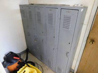 5 Bank Set of lockers