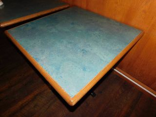 Square Dining Height Table w Metal Base