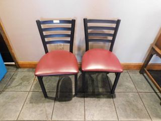 lot 4 Metal Dining Height Chairs w Vinyl Seat