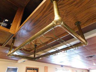 Brass Bar Glass Hanging Storage