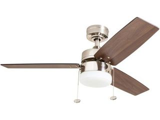 Prominence Home Reston 42 Inch Brushed Nickel Indoor lED Ceiling Fan