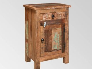 Wittwer Distressed Recycled Wood End Table by Christopher Knight Home   Distressed Paint Finish