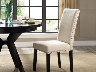 Porch   Den Felix Upholstered Grey   Beige Dining Chair  See lot 6921 To Make A Pair