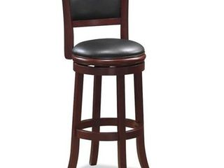 Augusta 24 Inch Swivel Counter Stool   Brown  See lot 6931 To Make A Pair