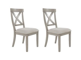 Parallen Gray Dining Side Chair  Set of 2