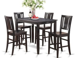 Black Counter Height Set Of 2 Kitchen Counter Chairs  Black