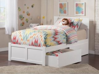 Orlando 2 Urban Bed Drawers in White