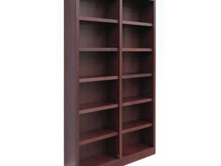 Concepts in Wood MI4884 Double Wide Bookcase  12 Shelves  Retail 528 99