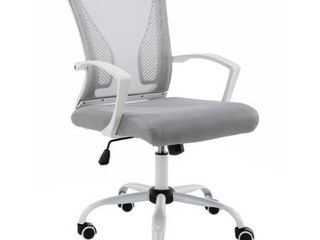 Modern Home Zuna Mid back Office Chair  White Grey