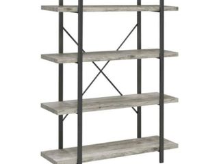 Grey Driftwood 4 tier Open Back Bookcase