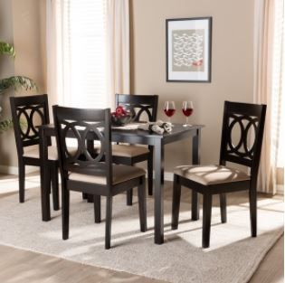 Modern and Contemporary 4 Piece Set Dining Chairs Grey  NO TABlE