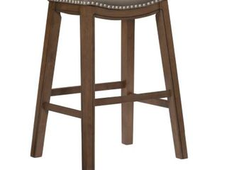 Whitby Saddle Seat Stool   Gray   Bar height   29 32in