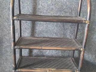 Wicker Style Wall Shelf