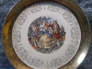 22K Crest O Gold Vintage Sabin 9in Cabinet Plate W S George
