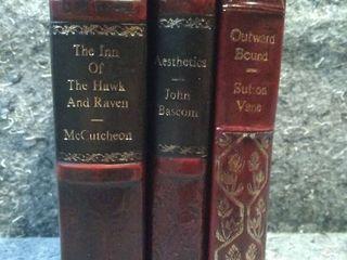 Three Antique Hard Bound Books