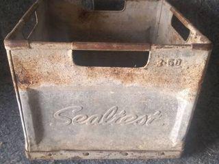 Vintage Sealtest Metal Milk Crate
