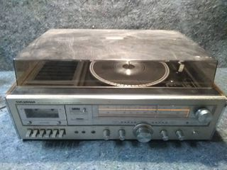 Vintage Sylvania Turntable  Tape Player Recorder  Radio
