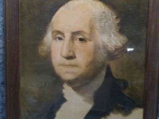 Vintage Framed George Washington Wall Art