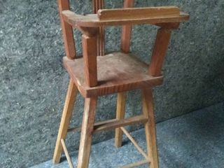Vintage Miniature High Chair