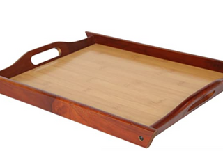 17 5 x 12 Wooden Serving Tray   light Wood