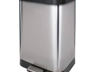 GlAD Stainless Steel Step Trash Can with Clorox Odor Protection of The lid Fits Kitchen Pro 13 Gallon Waste Bags