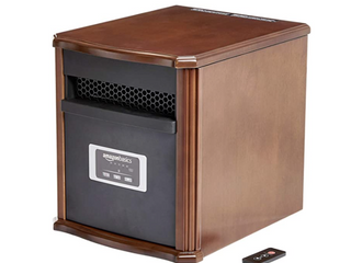 Amazon Basics   Portable Heater with Remote   Cherry Finish