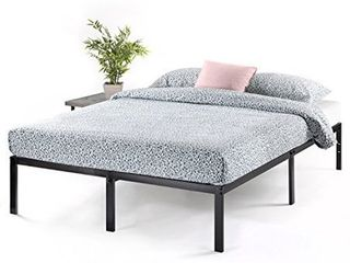 Best Price Mattress Queen Bed Frame 14 Inch Metal Platform Beds w  Heavy Duty Steel Slat Mattress Foundation  Black   Durable