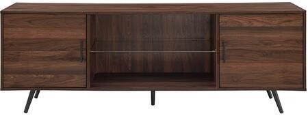 WE Furniture 70  Mid Century Modern TV Stand   Dark Walnut