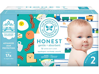 Honest Diapers   Size 2  12 18lbs    152 count