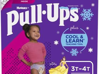 Huggies Pull Ups Girls  Cool   learn Training Pants   Size 3T 4T  66ct