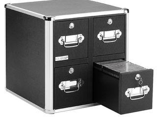 Vaultz  IDEVZ01049  Disc locking CD DVD Cabinets  1 Each  Black