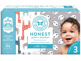 The Honest Company Super Club Box Diapers W  Trueabsorb 136ct Size 3 16 28lbs