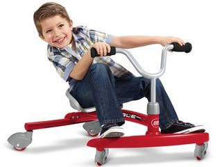 Radio Flyer Ziggle   Red  Pedal and Push Riding Toys