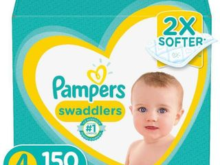 Pampers Swaddlers Disposable Diapers One Month Supply   Size 4  150ct