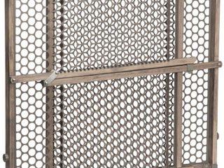Safety 1st Vintage Grey Wood Doorway Security Gate  Grey