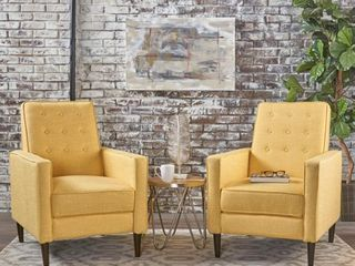 Mervynn Mid century Fabric Recliner Chairs  Set of 1  by Christopher Knight Home  Retail 627 49