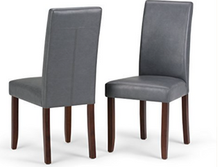 Simpli Home Acadian Parson Dining Chair  Set of 2   159 99