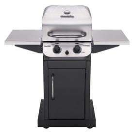 Char Broil Performance Black And Stainless Steel 2 Burner liquid Propane Gas Grill   open box missing one side panel