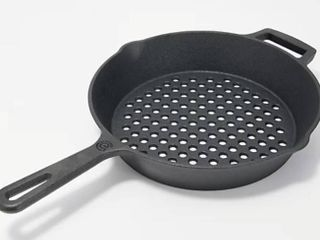 Cook s Essentials 10  Round Die Cast Iron Grill Pan