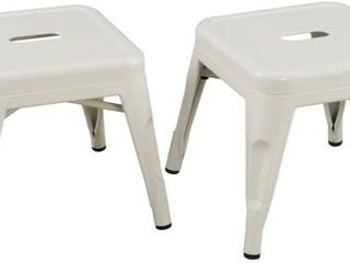 Classic Playtime Set of 2 White Child Stools
