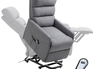 Grey  HOMCOM Power lift Assist Recliner Chair for Elderly with Wheels and Remote Control  Retail 354 49