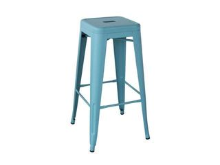 Buffalo Tools AmeriHome loft 30  lightweight Metal Bar Stool with X Brace Support   Teal